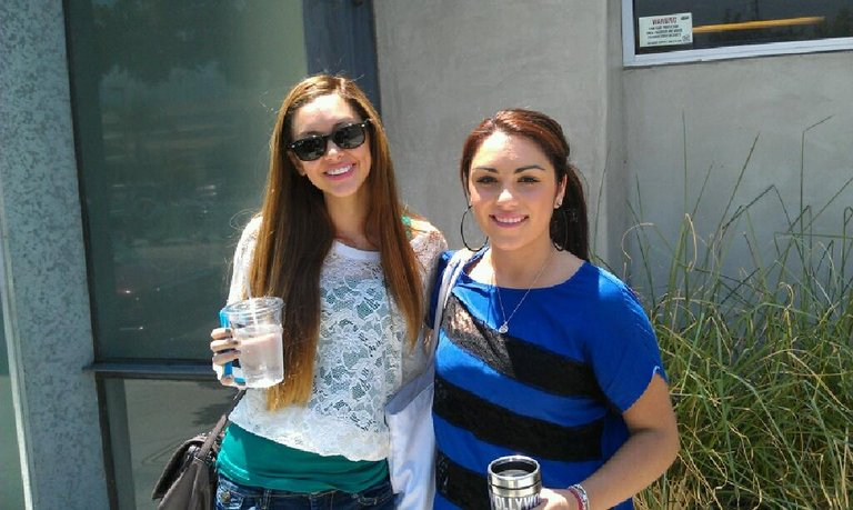 Marissa Ann and I outside the studio recording our blind audition songs!