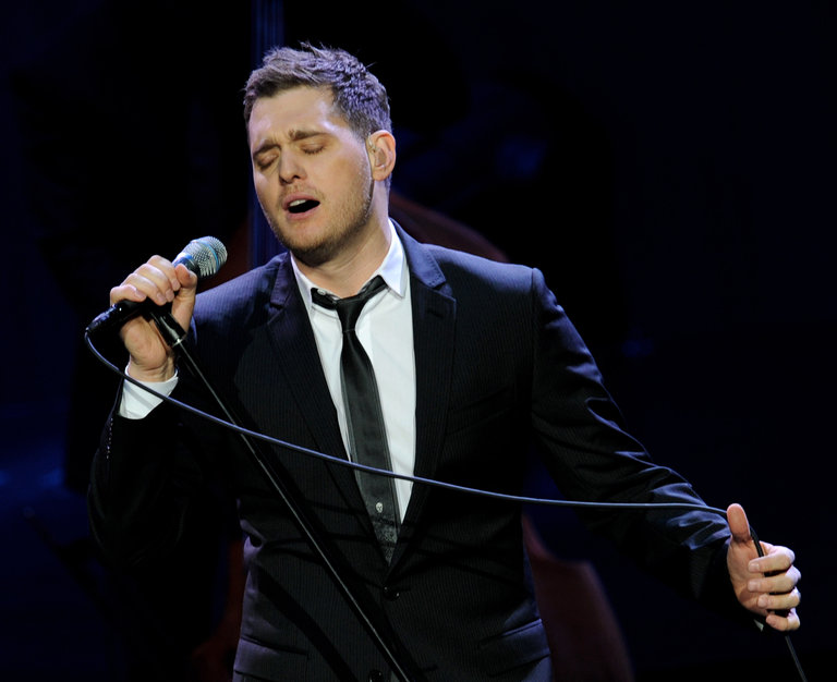 Michael Buble Performs at the Staples Center