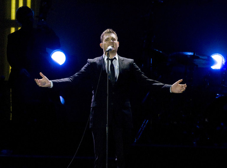Michael Buble Performs in Concert in Barcelona
