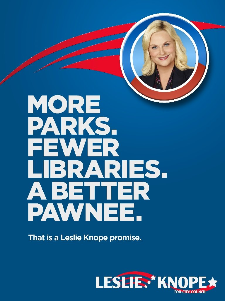 More Parks. Fewer Libraries.
