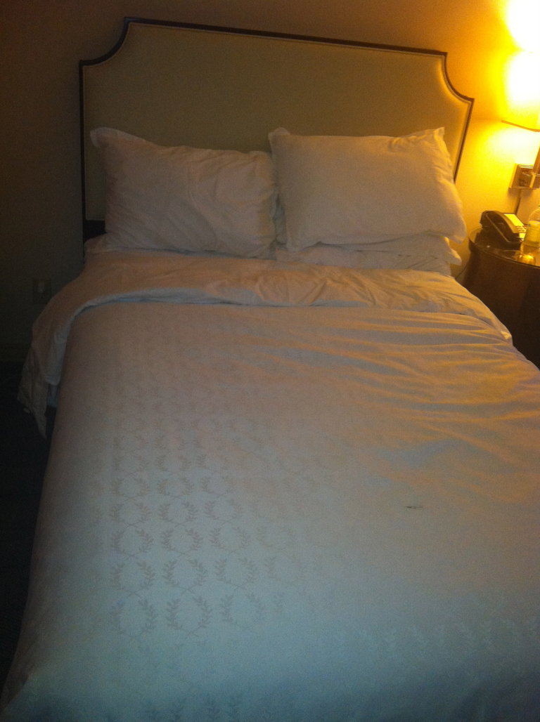 My Mom's Hotel Bed