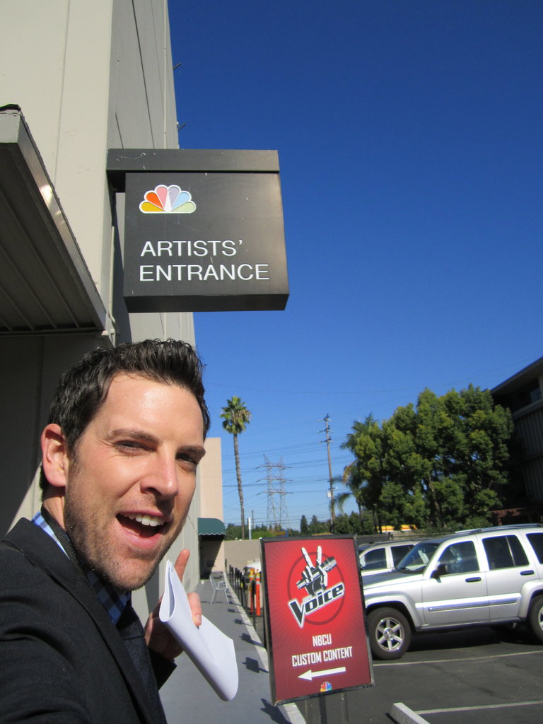 "NBC ""artist"" entrance...hellz yes."