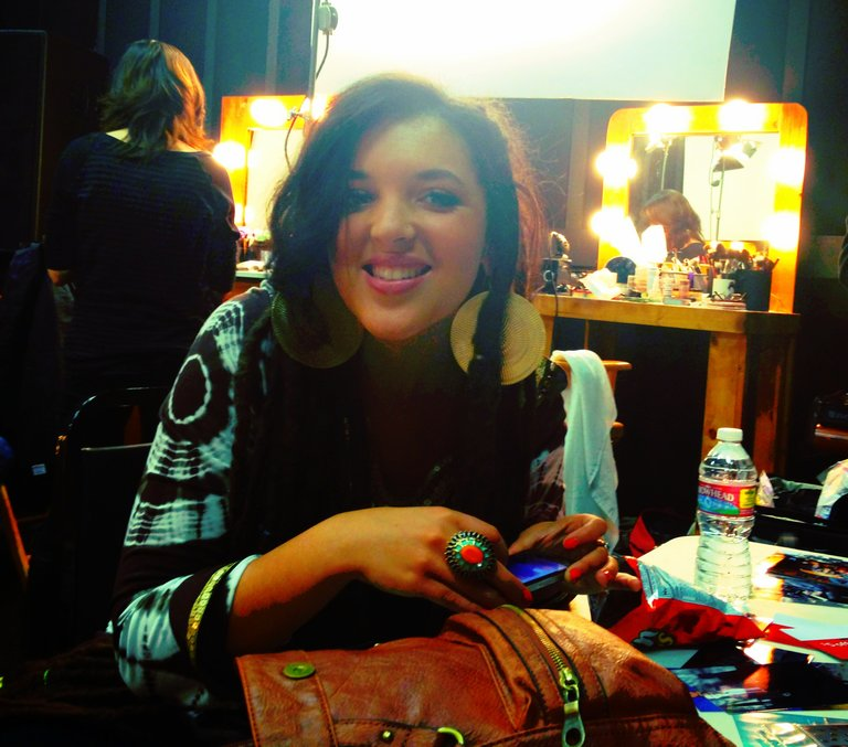 Naia getting ready.