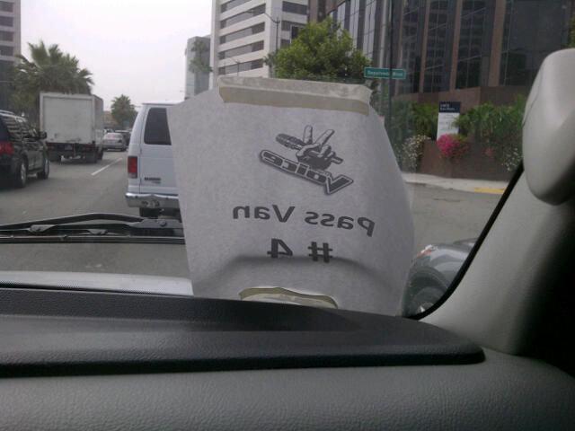 Passenger van (that's us!)