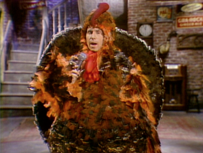 Paul Simon in a turkey suit.