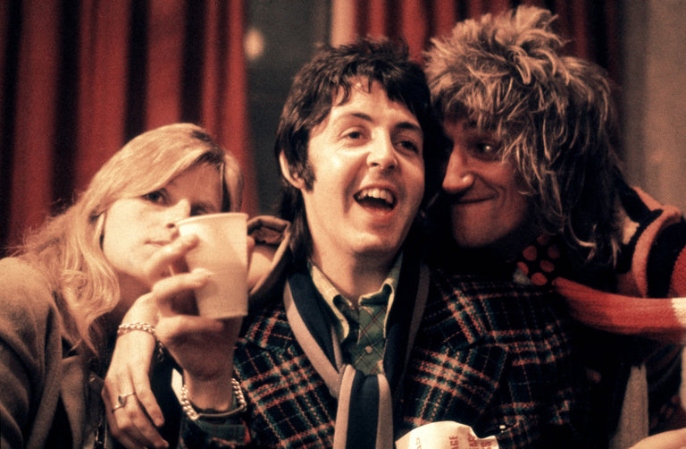 Photo of Linda McCARTNEY and Rod STEWART and Paul McCARTNEY