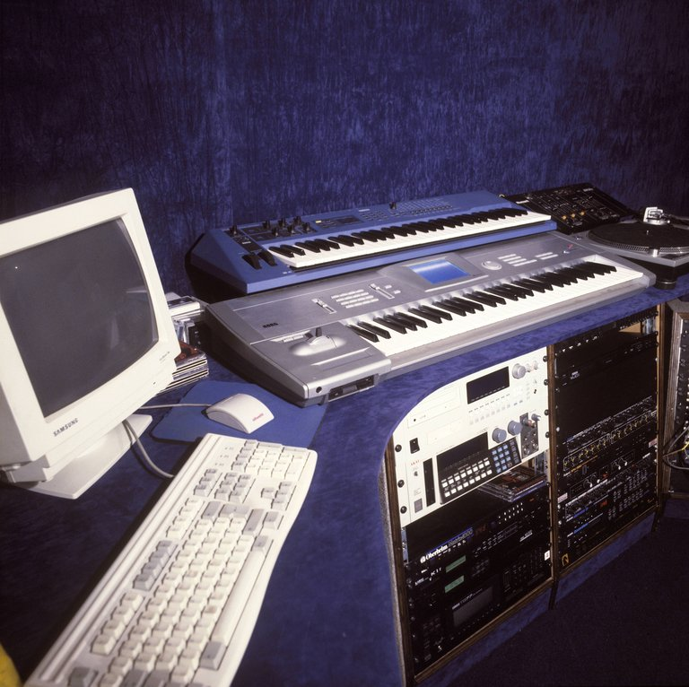 Photo of SAMPLER and SYNTHESISER and RECORDING STUDIO and COMPUTER RECORDING