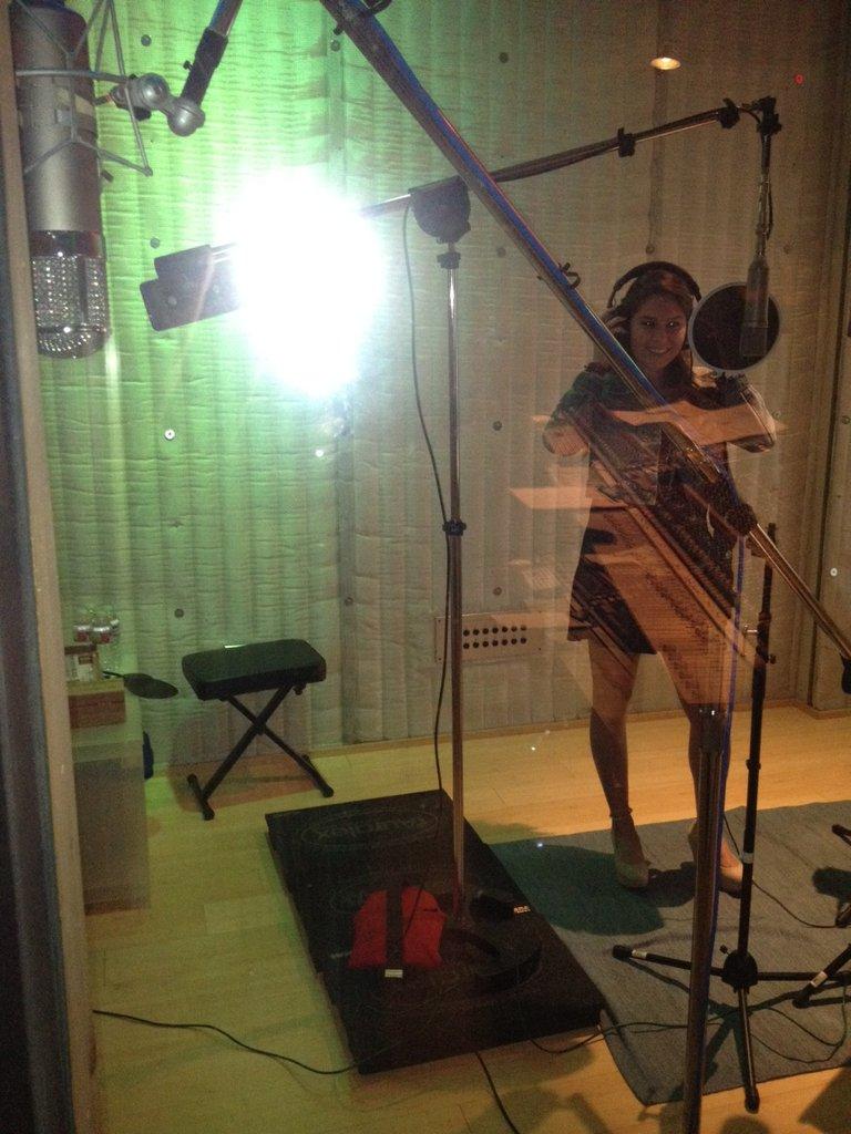 "Recording ""White Horse"" Ahhhh!!"