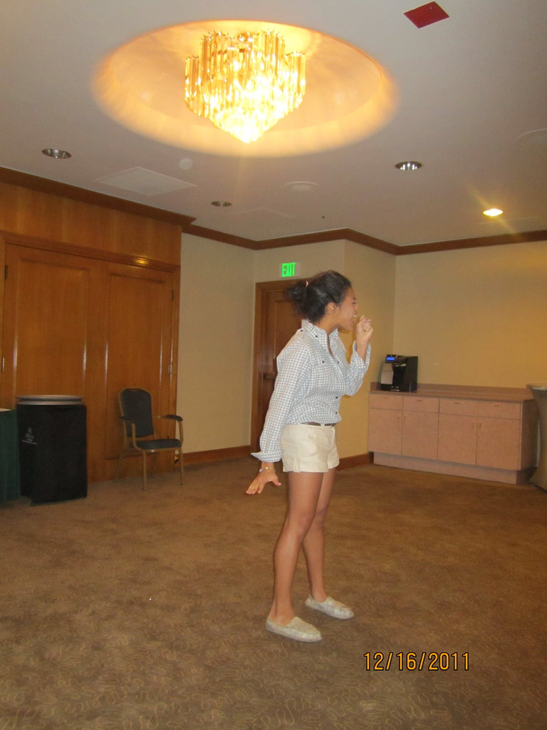 Rehearsing at 6am in the morning...gotta make sure I'm on point before I show Xtina!