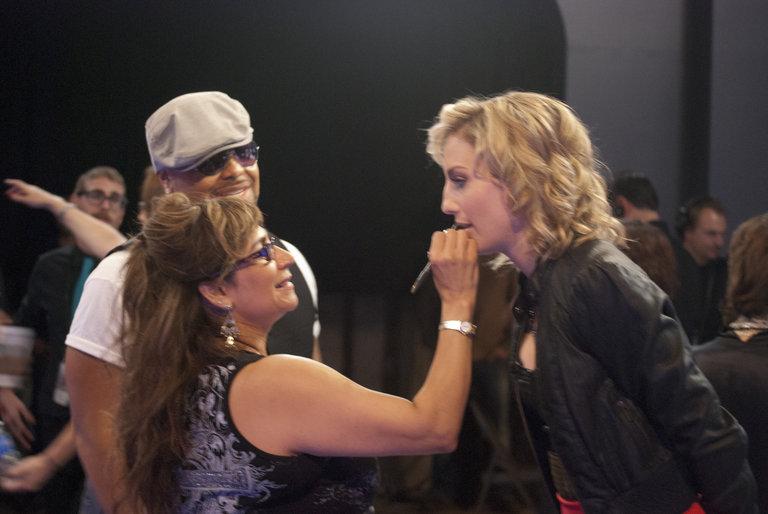Ritamarie glamming me up pre-show.