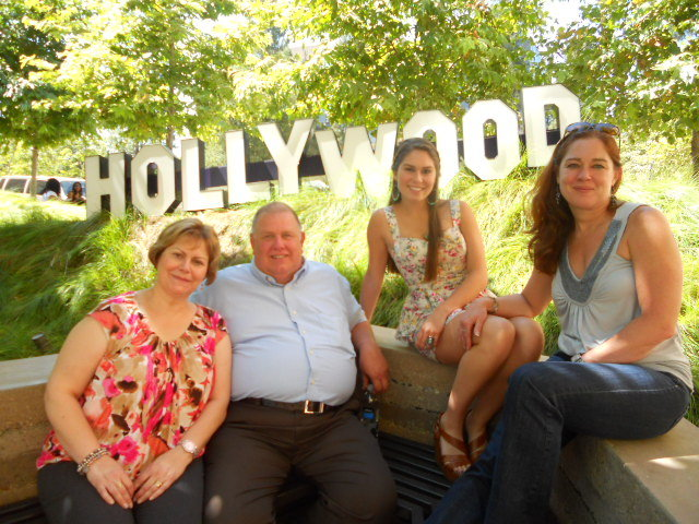 Ruth, Ron, me and my mom in front of the Hollywood sign!