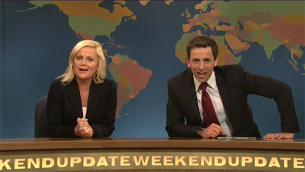 Seth Meyers and Amy Poehler