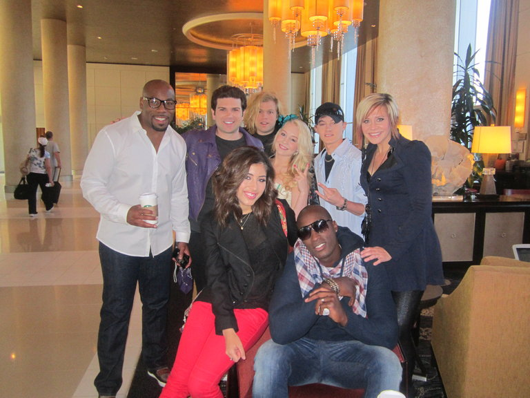 Some of Team Blake, Team Xtina, and Team Cee Lo