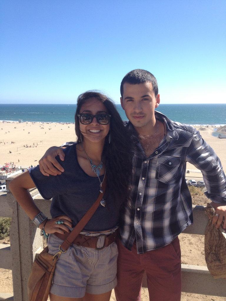 Sylvia and Ben at the beach! :)