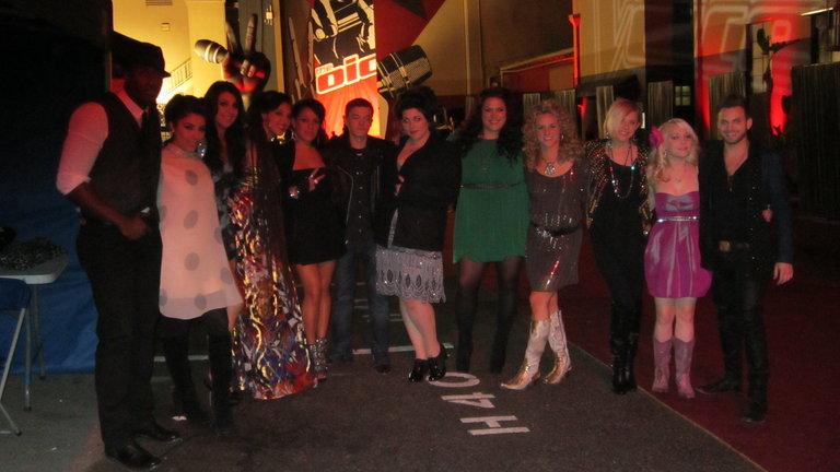 Team Blake on the Red Carpet