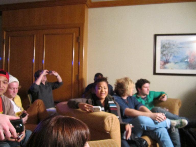Team watching Blinds
