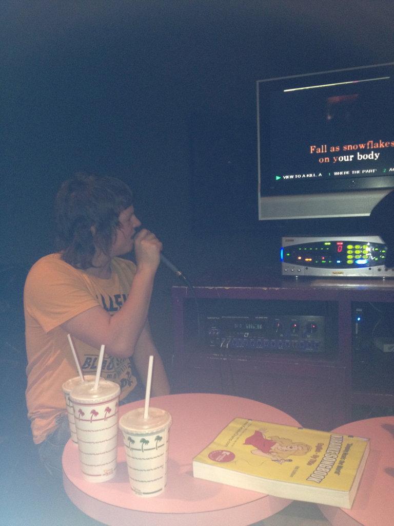 Terry rockin' some fun karaoke!