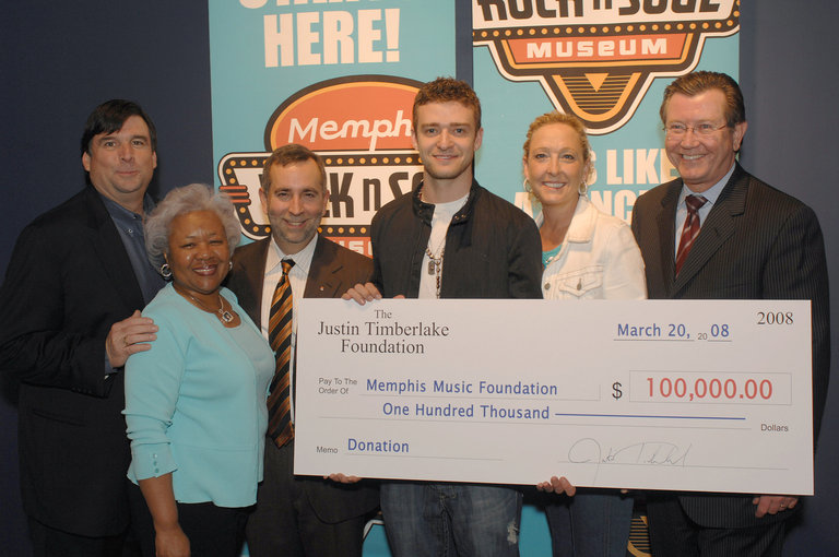 The Justin Timberlake Foundation Donates $200,000.00 to Memphis Music Entities
