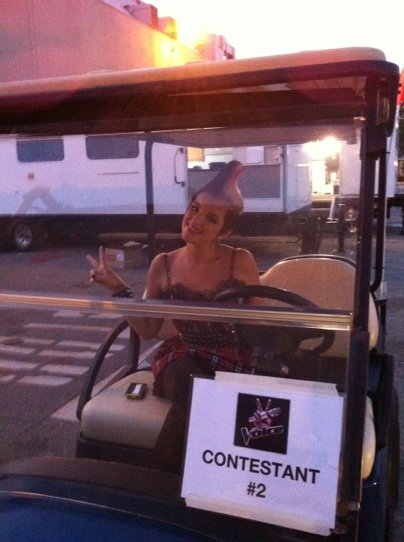 The Voice..golf cart!? Yeah, we're cool.