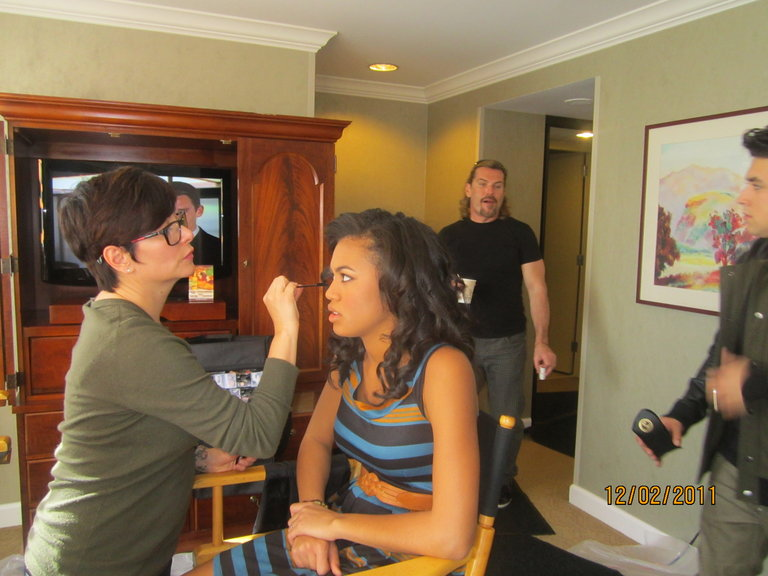 The amazing Darcy working her magic :)