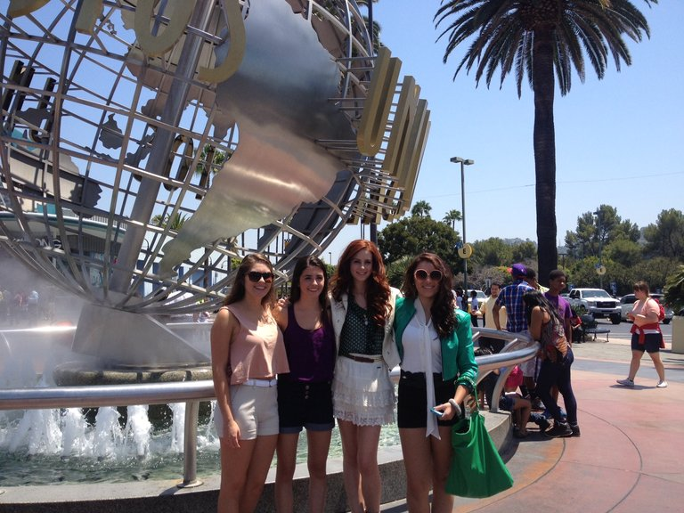 The girls hanging out at Universal!