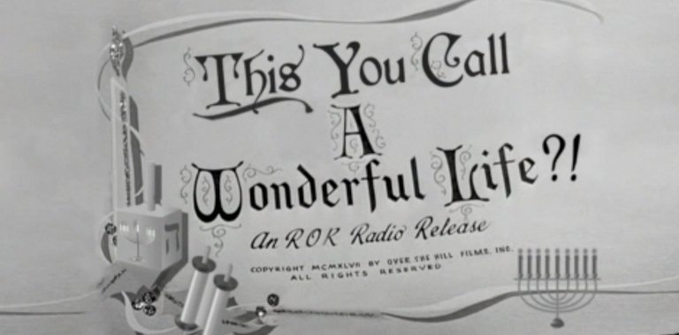 This You Call A Wonderful Life?
