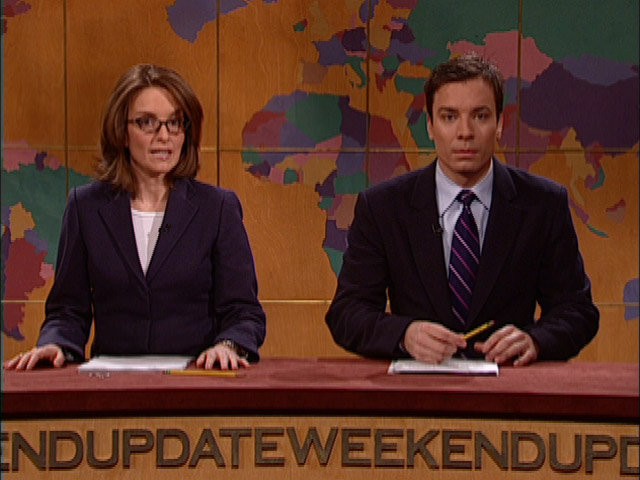 Tina Fey and Jimmy Fallon
