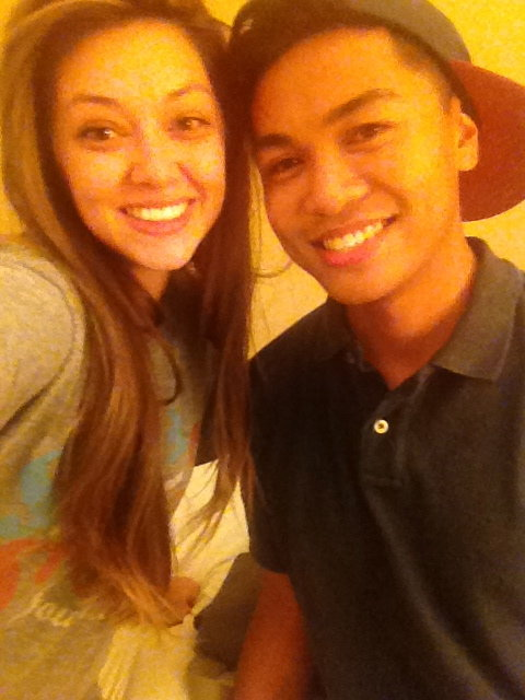 VJ came to visit me while I was in LA. Aww.