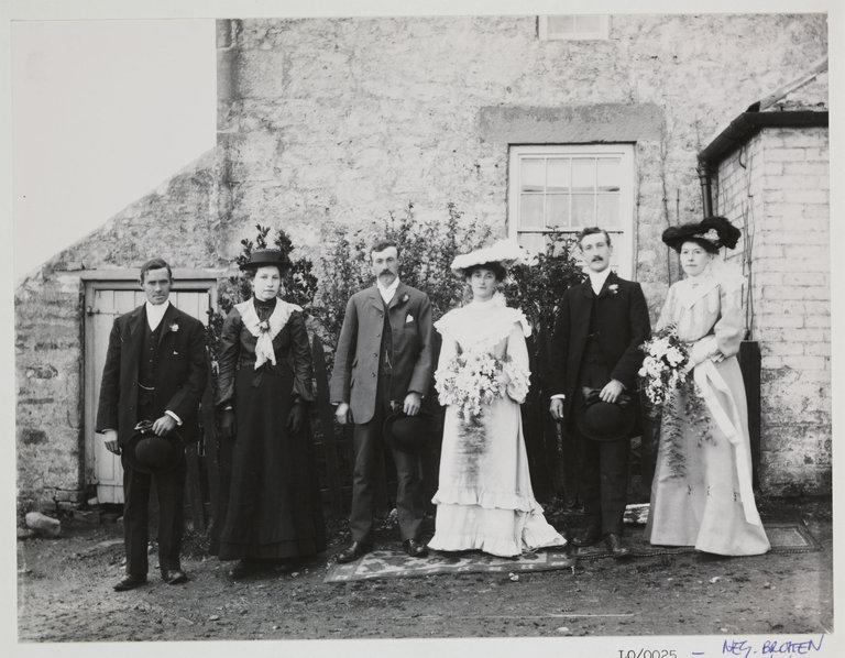 Wedding group, c 1900.