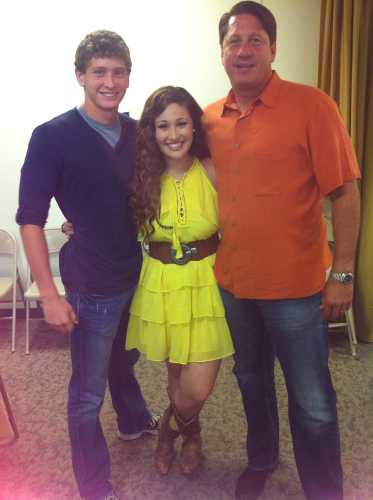 With my brother & dad before my blind audition...