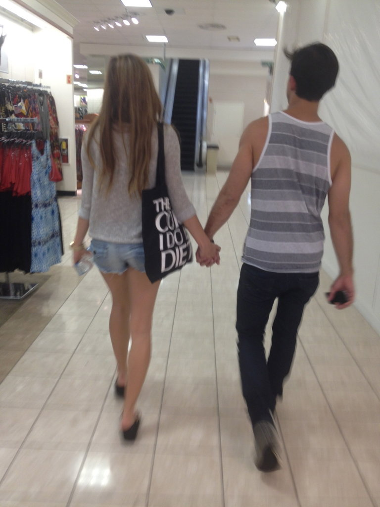 Ya know, just shoppin' with a hot model..