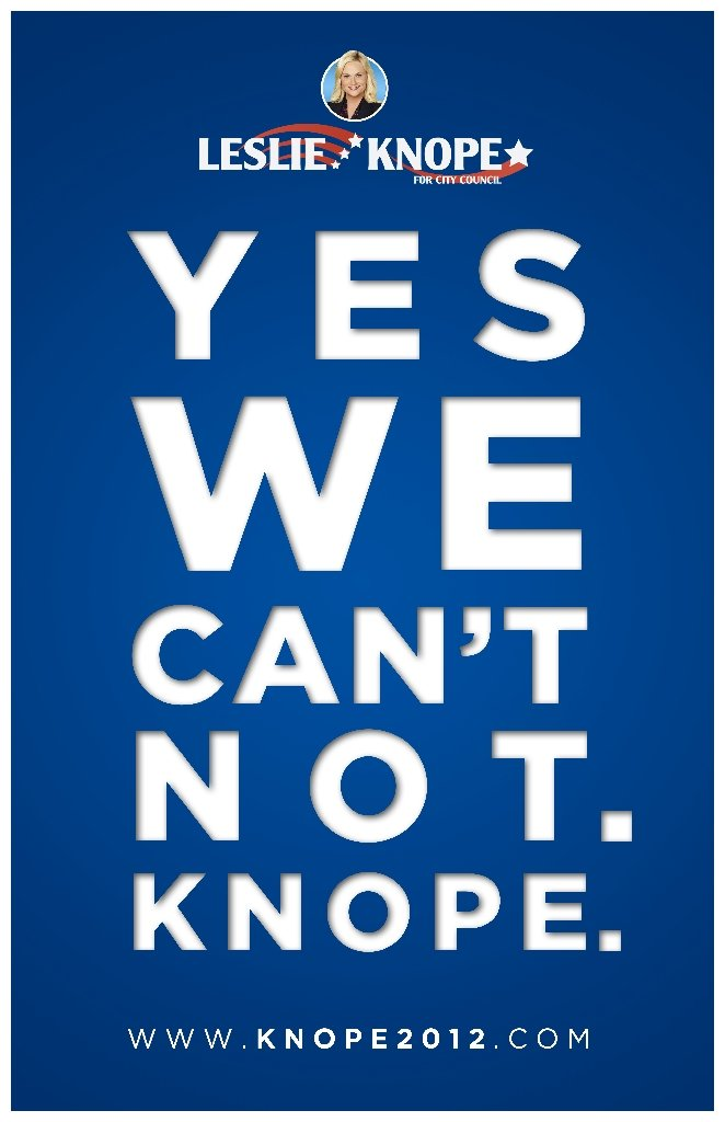 Yes We Can't Not