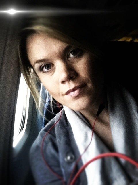headphones on the plane.