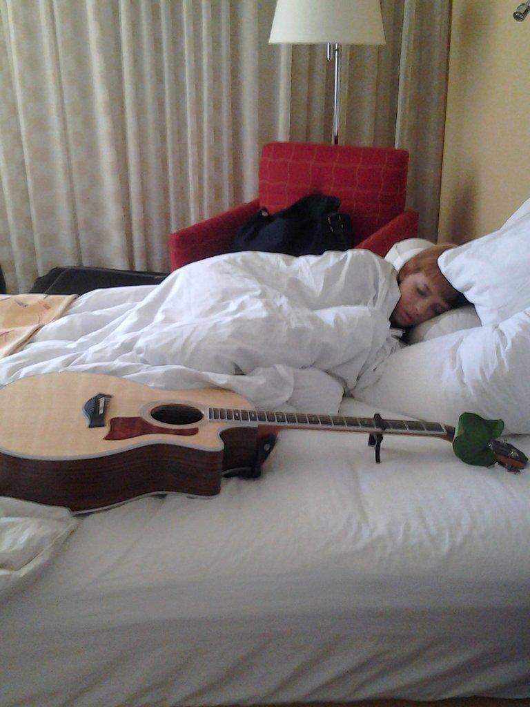 i fell asleep practicing! haha