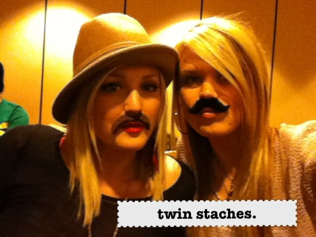 twin staches.