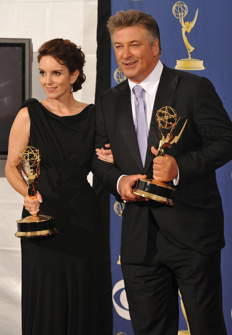 Actors Tina Fey and Alec Baldwin from th