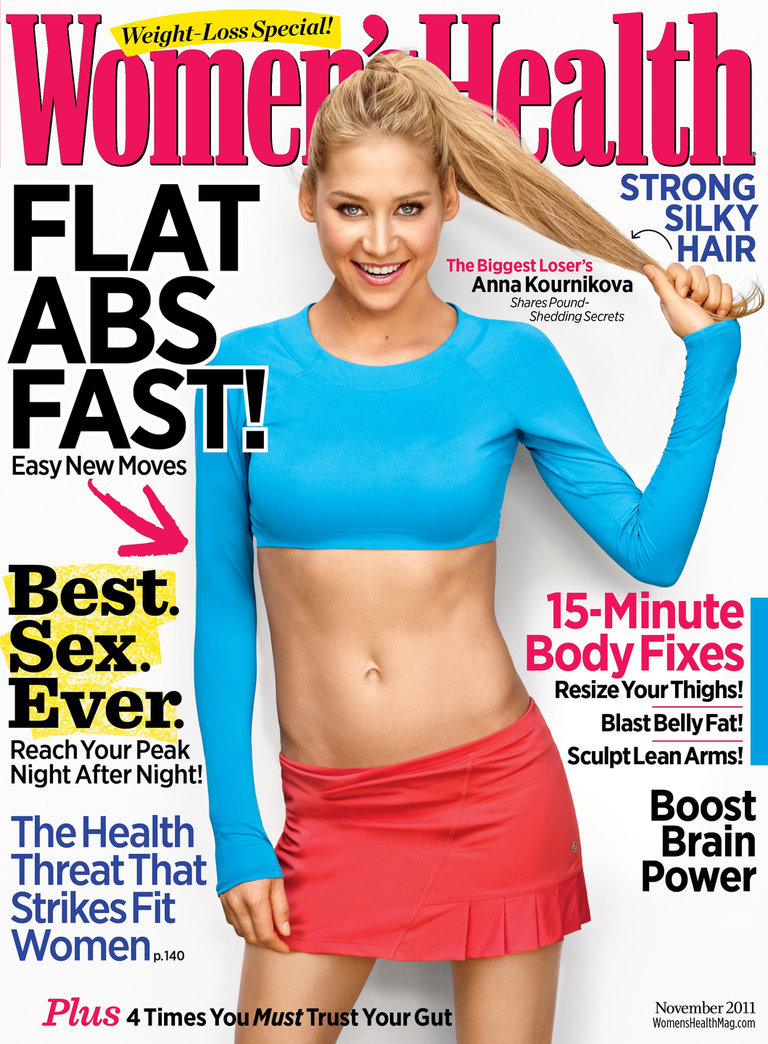 Anna hits the cover of Women's Health to share pound-shedding secrets - on newsstands now!