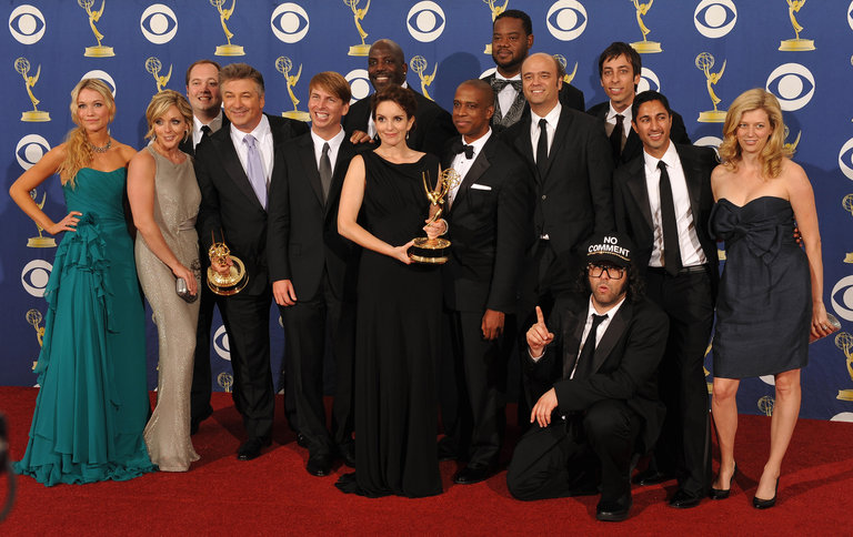"Cast and crew from the TV show ""30 Rock"""