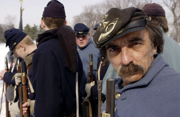 Gods And Generals Civil War Reenactment In Central Park