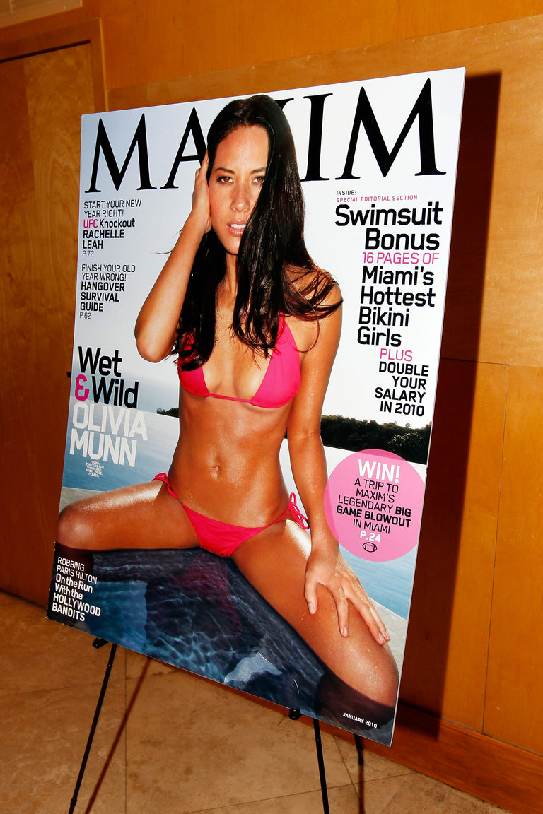 Maxim and Patrelebrate January Cover Girl Olivia Munn