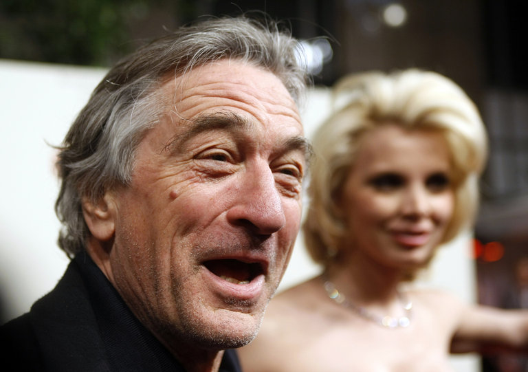US actor Robert De Niro speaks to a jour