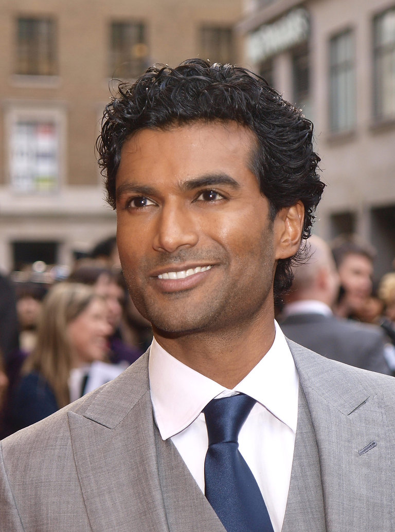 US actor Sendhil Ramamurth poses on arri