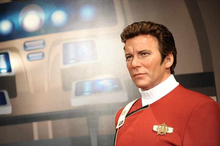 William Shatner Immortalized In Wax As Captain Kirk At Madame Tussauds