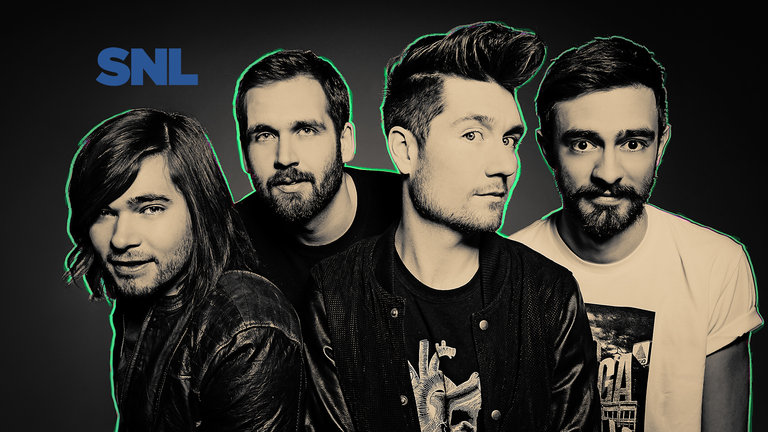 Jonah Hill hosts with musical guest Bastille on Saturday Night Live on January 25, 2014.
