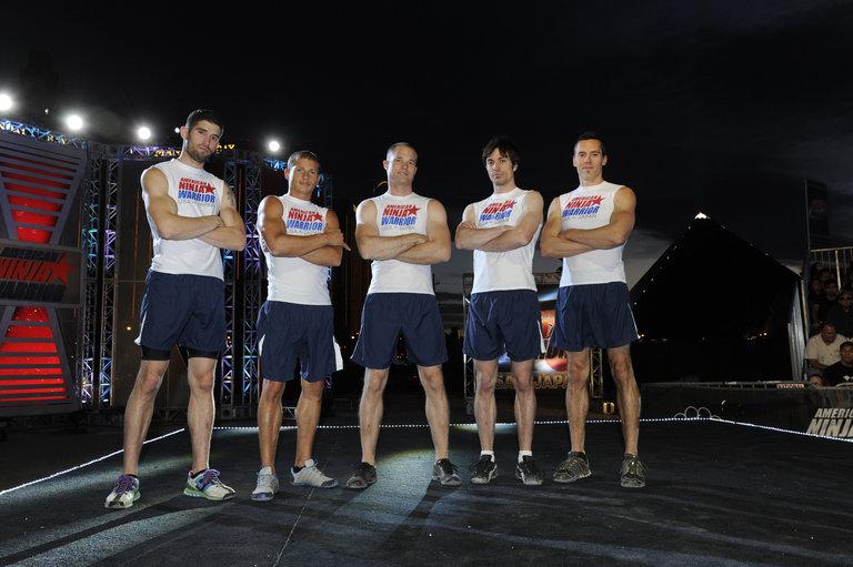 Pictured: TEAM USA (l-r) James McGrath, Brent Steffensen, Brian Arnold, Paul Kasemir, Travis Rosen -- (Photo by: David Becker/Esquire Network/NBCU Photo Bank)