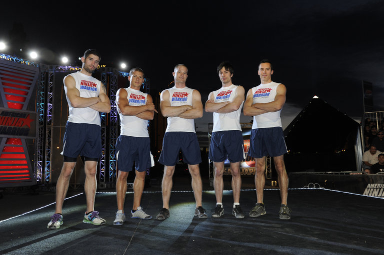 Pictured: TEAM USA (l-r) James McGrath, Brent Steffensen, Brian Arnold, Paul Kasemir, Travis Rosen -- (Photo by: David Becker/Esquire Network/NBCU Photo Bank)