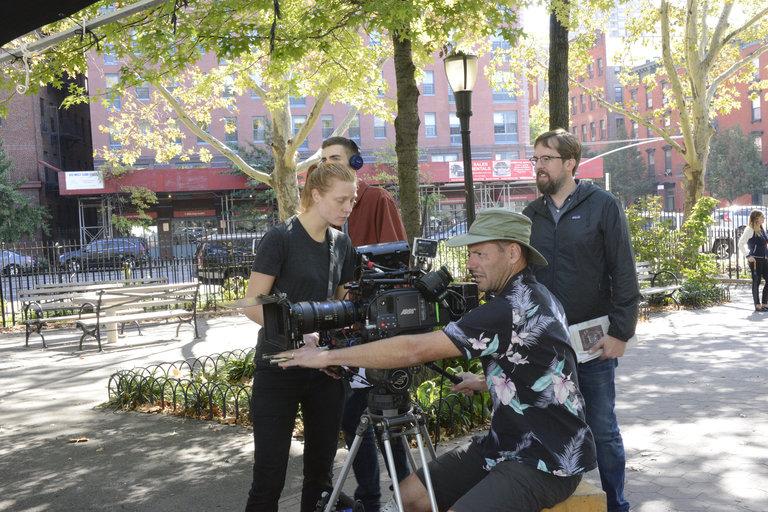 "Behind the scenes  of ""Poem"" on Saturday Night Live."