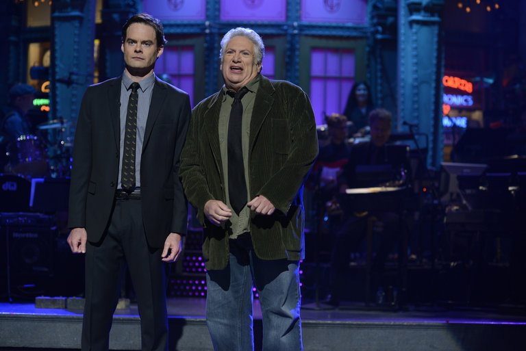 Photos from the set: Bill Hader and Hozier