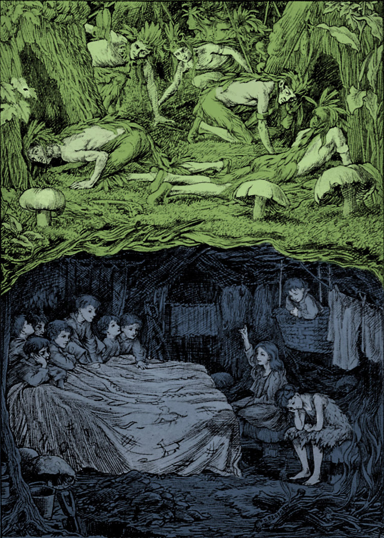 """F.D. Bedford Illustrates """"Peter and Wendy"""""""