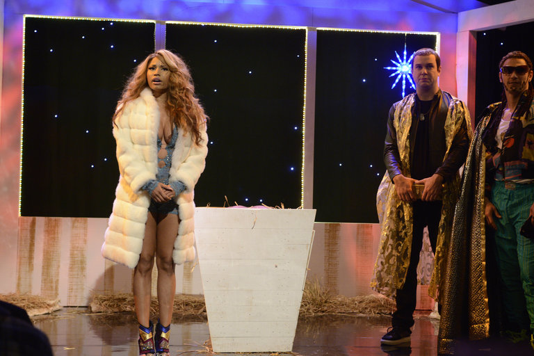 From the Set: James Franco and Nicki Minaj